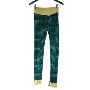 *3/$25* AERIE AMERICAN EAGLE Soft Stretchy Striped Lounge Leggings Pants Green